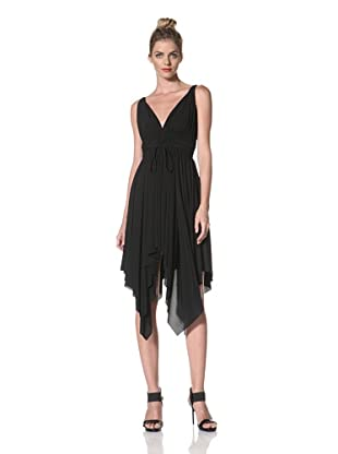 Norma Kamali Women's Goddess Dress with Shirred Waist (Black)