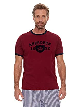 Cortefiel Camiseta Flocado (Rojo)