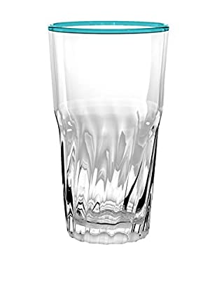 Cantina Acrylic Double Old Fashioned Glass, Clear/Teal