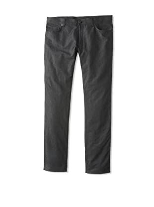 Salvatore Ferragamo Men's Straight Leg Jeans (Dark Grey)