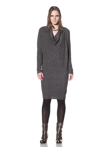 Rogan Women's Zenith Cowl Neck Sweater Dress (Heather Charcoal)