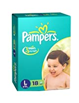 Pampers Disposable Diapers Large (9-14Kg)