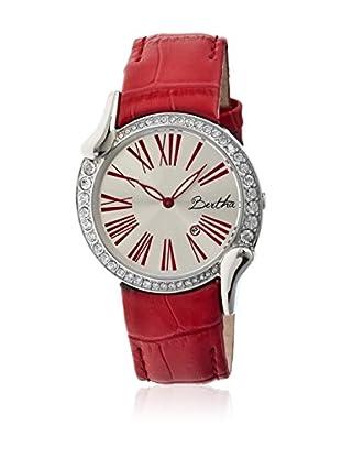 Bertha Uhr mit Japanischem Quarzuhrwerk Olive rot 38 mm