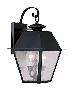 Crestwood Mason 2-Light Wall Lantern, Black
