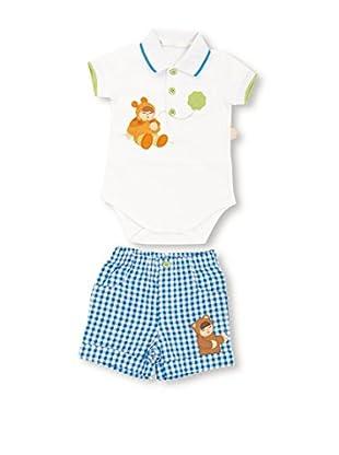 Thun Completo Body Pantaloni Sorrisi Lui Bianco/Blu 1 Mese (50 cm)