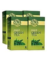 LaPlant Mint Green Tea - 100 Tea Bags (Pack of 4)