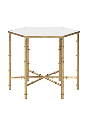 Safavieh Kerri Accent Table, Gold/Mirror Top