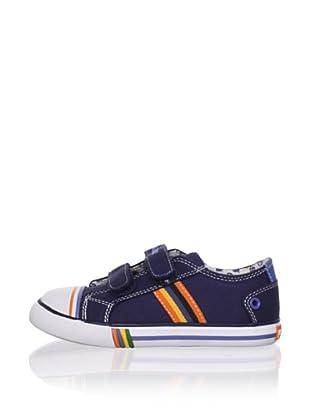 Pablosky Kid's Striped Sneaker (Navy)