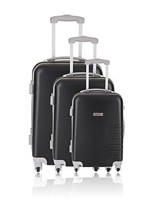 Travel ONE Set de 3 trolleys rígidos Batley Negro
