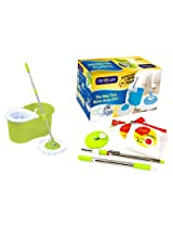 Rinnovare Green Floor Cleaner Mop with Soap dispenser (Plastic)