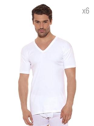 Ocean Pack x 6 Camisetas Pico (Blanco)