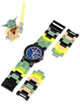 LEGO Kids 8020295 Star Wars Yoda Watch with Link Bracelet and Figurine