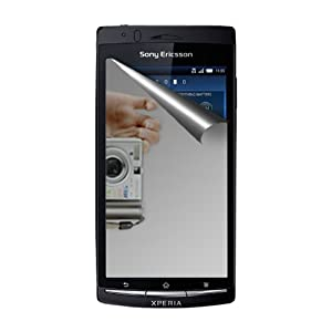 Amzer 91361 Mirror Screen Protector with Cleaning Cloth for Sony Ericsson Xperia Arc S, Sony Ericsson Xperia arc