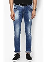 Blue Skinny Fit Jeans Spykar