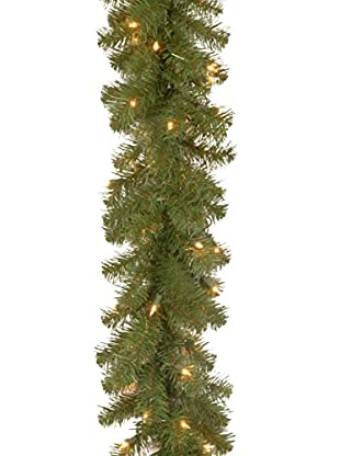National Tree Company 9' North Valley 50-Light Spruce Garland