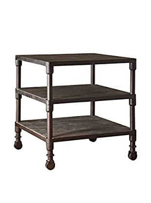 Luxury Home Cirque 3-Tier End Table, Grey