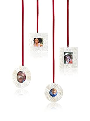 Shiraleah Assorted Set of 4 Hand-Carved Bone Photo Frame Ornaments (Bone)