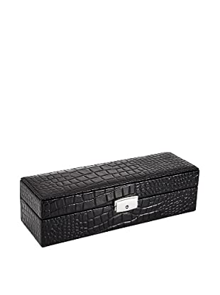 Wilouby 6-Watch Box, Black Croc