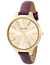 Breda Women's 1650A Watch with Purple Genuine Leather Band