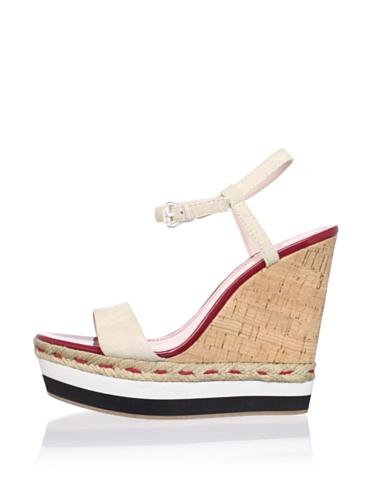 Plenty by Tracy Reese Women's Tess Platform Sandal (Beige)