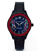 Giordano Analog Black Dial Women's Watch - 2586-33