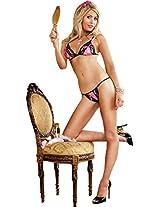 Baci Woman Lace Up Bikini Set 110 - One Size Fits All