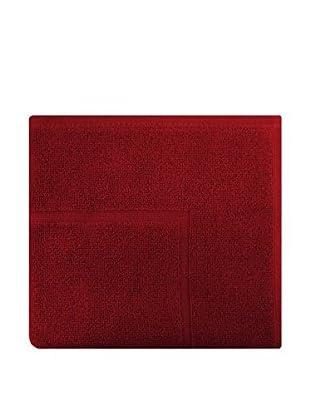 Manterol Alfombra Baño Rizo Algodón (Rojo)