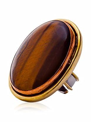 ANA Achatschmuck Ring braun