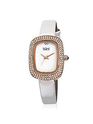 Burgi Women's BUR111RGW Swarovski Crystal White Brass Watch