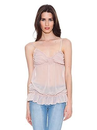 Santa Bárbara Camiseta Con Elástico (Rosa)