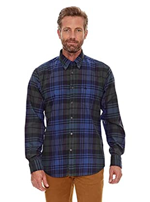 Cortefiel Camisa Franela (Azul)