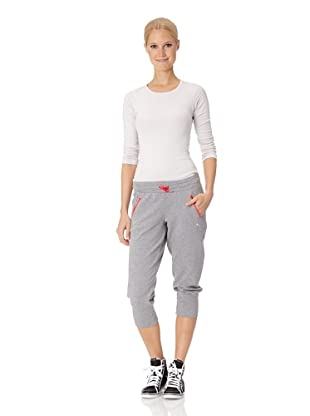Puma Damen Hose Move 3/4 Sweat (athletic gray heather)