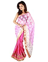 Shubh Embroidered Saree (Pink)_SASF0060
