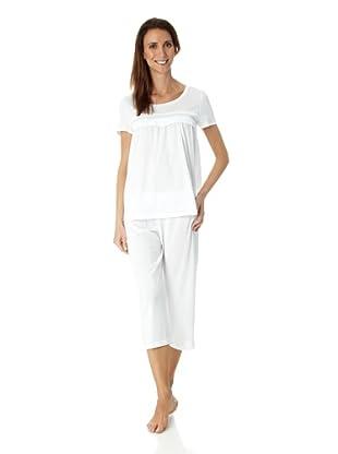 Hanro Pyjama 1/2 Arm Stella (Weiß)