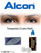 Ciba Vision Freshlook ColorBlends Turquoise Color Contact Lenses By Visions India 2 Lens Pack 0.00