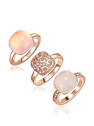 Lilly & Chloe Set, 3-teilig Ringe Made With Swarovski® Elements
