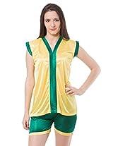 Fasense Exclusive Women TOP & Shorts (Large, Yellow & Green)