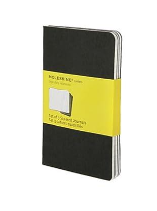 Moleskine Cuaderno 3 Negras Hojas Cuadriculadas