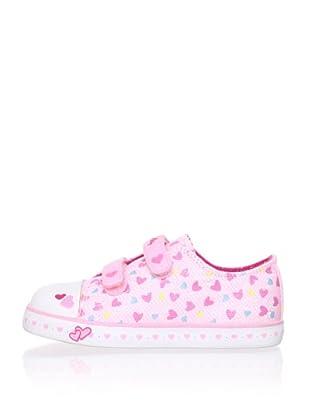 Pablosky Kid's Heart Sneaker (Pink)