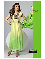 782020-New Fancy Beautifull Cream And Green Anarkali Suit