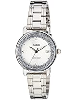 Casio Enticer Analog White Dial Women's Watch  - LTP-E120D-7ADF (A1041)