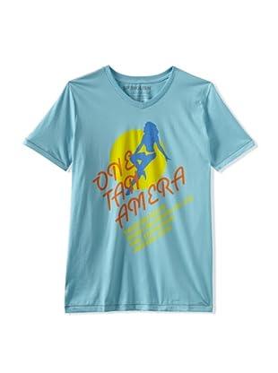 Spenglish Men's One Tan Amera T-Shirt (Light Blue)