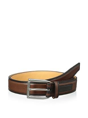 Trafalgar Men's Two-Tone Belt (Tan)