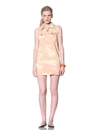 House of Holland Women's Beach Denim Dress (Peach)