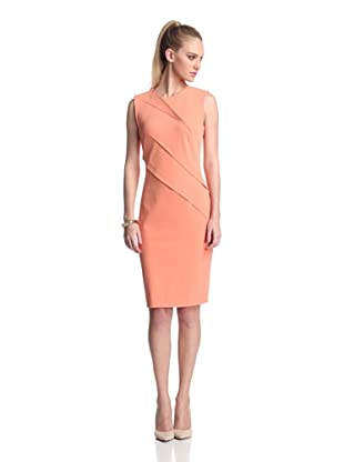KaufmanFranco Women's Seamed Sheath (Guava)