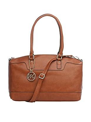 Emilie M. Women's Jane Top Zip Shoulder Bag, Russet