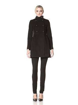 Badgley Mischka Women's Ivy Double-Breasted Coat (Black)