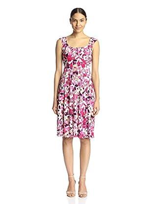 London Times Women's Sleeveless Flare Dress