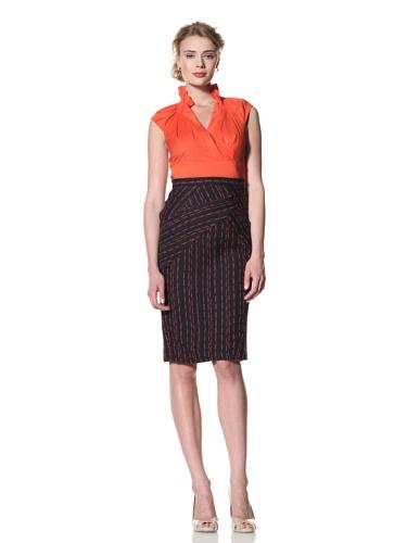 Eva Franco Women's Jaya Pencil Skirt with Pocket Details (Latitudes)