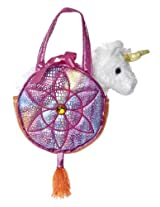 Aurora World Fancy Pals Toy Pet Carrier Plush Purse, Rainbow Dreams